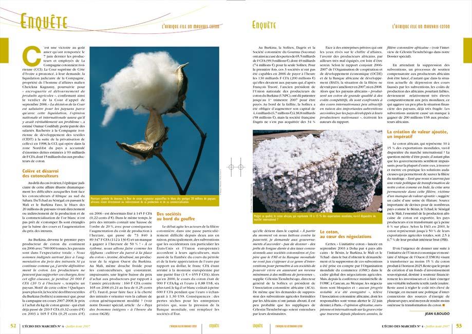 Magazine - L'écho des marchés