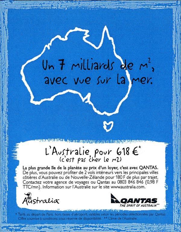 Qantas - Le pied à terre